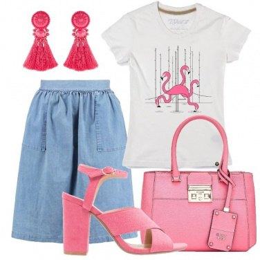 Outfit Rosa come un fenicottero