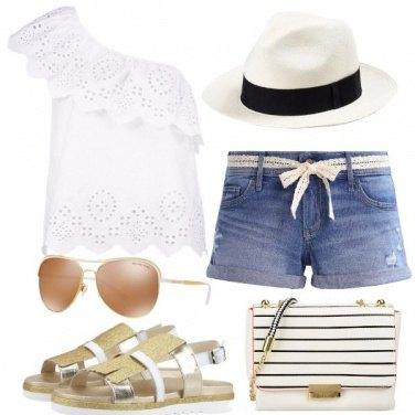 Outfit L\'arte del cappello Panama