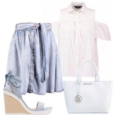 Outfit Una gonna di jeans particolare