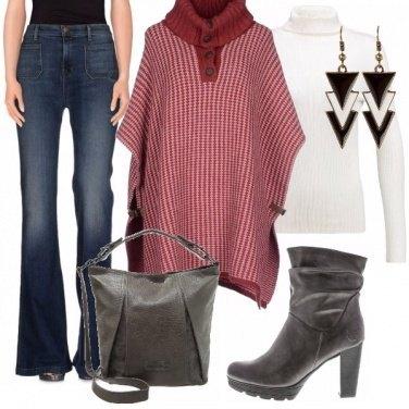 Outfit Amo il poncho