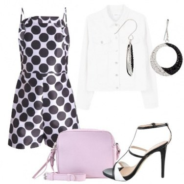 Outfit Playsuit a pois