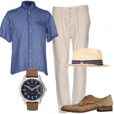 Outfit Lino e stringata