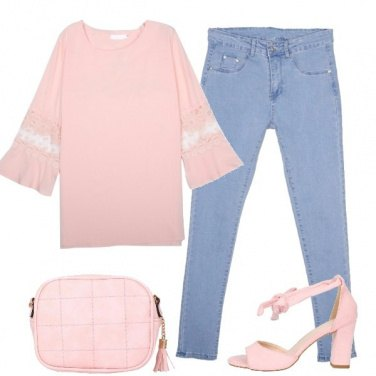Outfit Rosa tutto il giorno