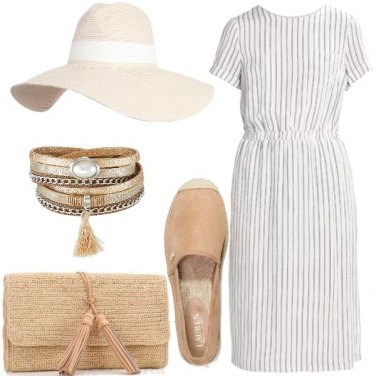 Outfit Cappello sabbia