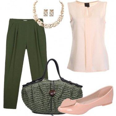 Outfit Militare con il rosa