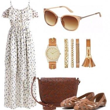 Outfit Romantica in cognac