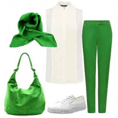 Outfit Sfumature di giada