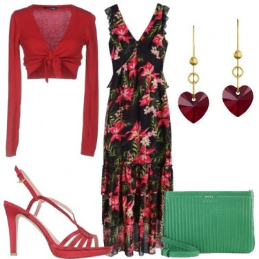 Outfit Ruches e tropical
