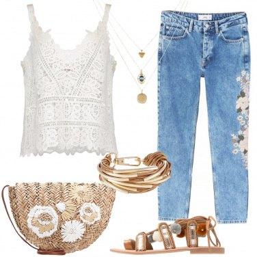 Outfit Ricami floreali
