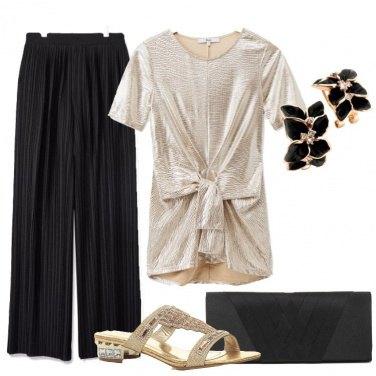 Outfit Bellissima in nero e oro