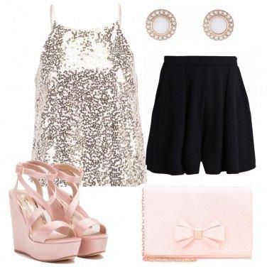 Outfit Top scintillante