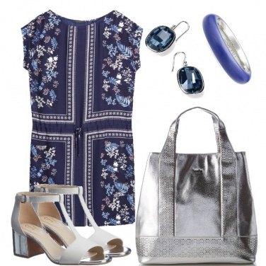 Outfit Argento e blu
