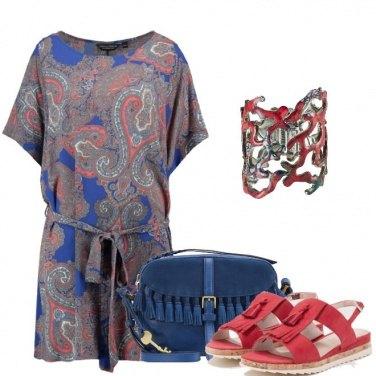 Outfit Il vestito in fantasia cachemire