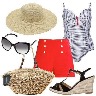 Outfit Una pin up in spiaggia