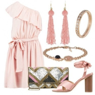 Outfit Cenetta in rosa