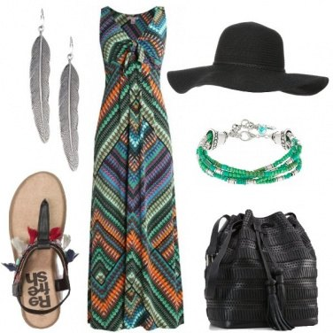 Outfit Giornata in stile etnico