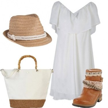 Outfit Bianco con carattere