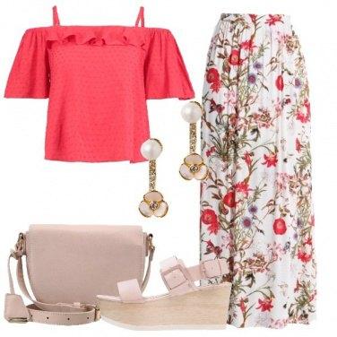 Outfit La maxi skirt floreale