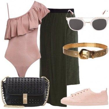 Outfit La gonna asimmetrica
