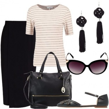Outfit Sabbia e nero
