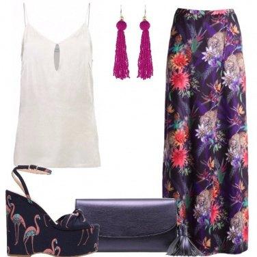 Outfit Fiori e fenicotteri rosa