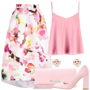 Outfit Fiorellino rosa