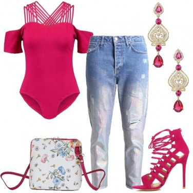 Outfit Serata in fucsia