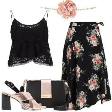 Outfit Un fiore rosa