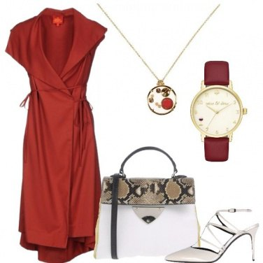 Outfit Estate in rosso