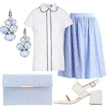 Outfit Il bianco e l\'azzurro
