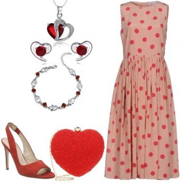 Outfit Romantica in Red Valentino