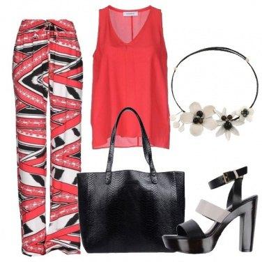 Outfit Rosso e nero di stagione