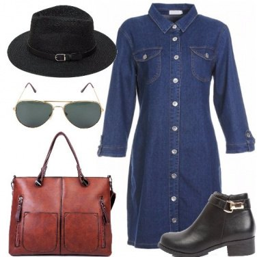 Outfit L\'abito chemisier in denim