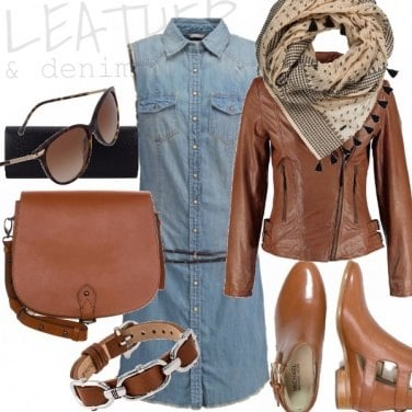 Outfit LEATHER & DENIM