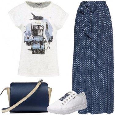 Outfit La gonna lunga blu