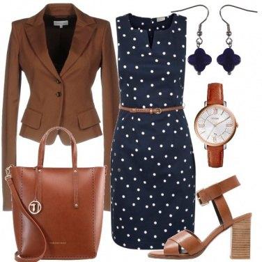 Outfit Cognac e blu