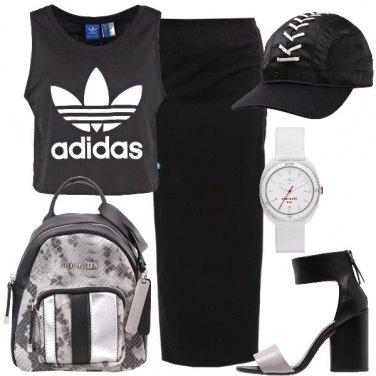 Outfit Urban con i tacchi