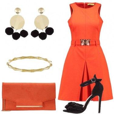 Outfit Il vestito arancione