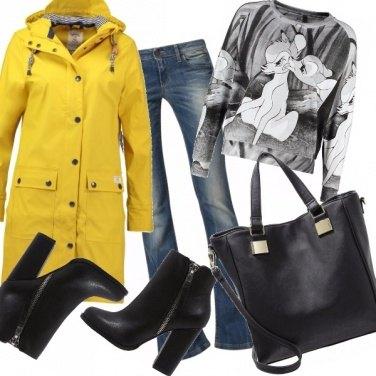 Outfit Allegra sotto la pioggia