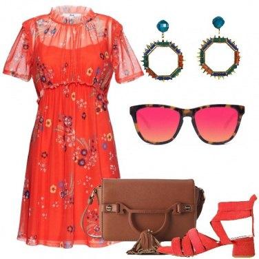 Outfit Rosso non solo di sera