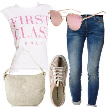 Outfit Casual in rosa