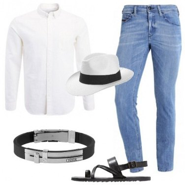 Outfit Jeans e infradito