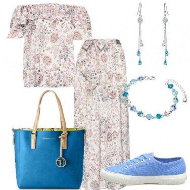 Outfit Fiori di acquamarina