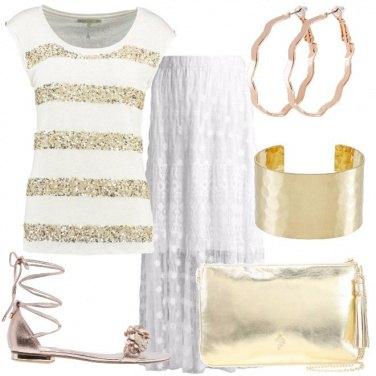 Outfit Con i bagliori dell\'oro