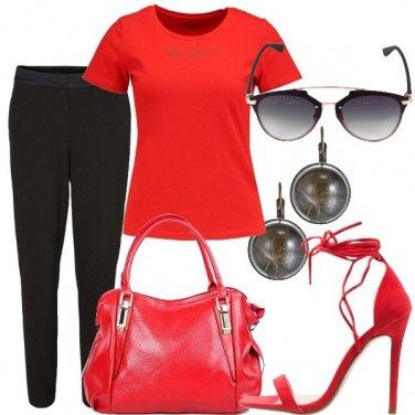 Outfit Rosso come la passione