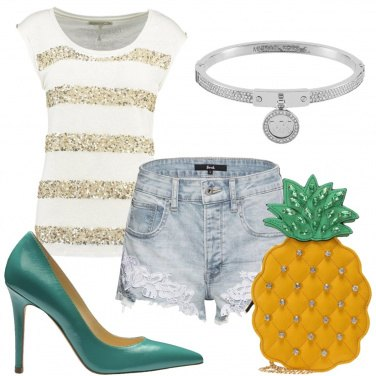 Outfit Ananas per tracolla