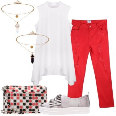 Outfit Il jeans rosso