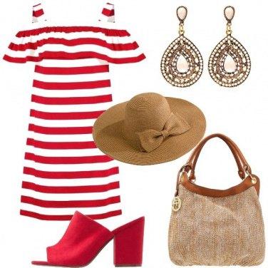 Outfit Cappello di paglia chic