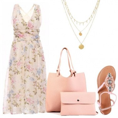 Outfit Romanticismo in rosa