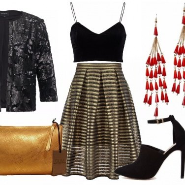 Outfit Black and gold